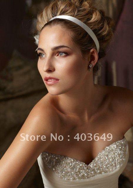 New fashion sleeveless sweetheart ruffle wedding dress B4961