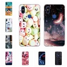 For Xiaomi Mi Mix 3 Back Cover Soft TPU Silicone MiMix3 Case Cartoon Patterned Mix3 Coque Capa