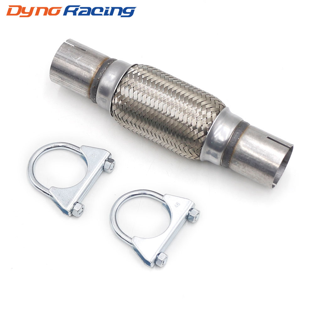 "250mm x 57mm 100/% Full Stainless Steel Exhaust Flexi Inc Ends 10/"" x 2.25/"" Flex"