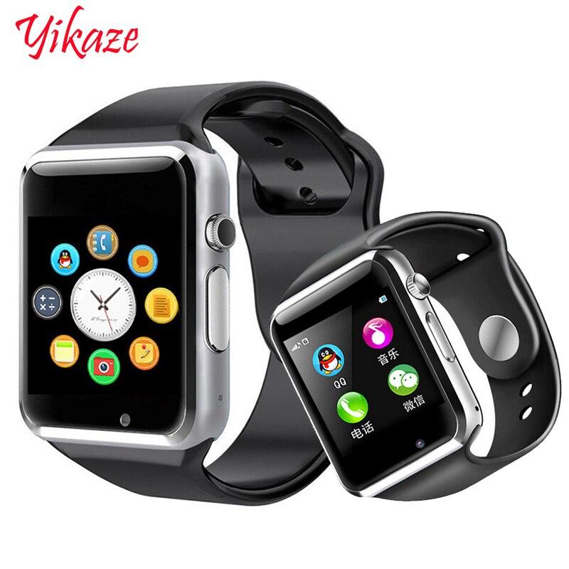 A1 para crianças homens mulheres android Smartwatch Bluetooth Relógio inteligente Com câmera Suporte chamada Fotografia música TF SIM card & DZ0