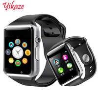 Relógio inteligente a1 para crianças homens mulheres android bluetooth smartwatch com câmera apoio chamada música fotografia sim tf cartão & dz0