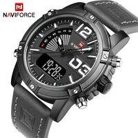 NAVIFORCE Brand Men Watches Luxury Sport Quartz Digital Watch Men S Waterproof Wristwatches Man Leather Clock
