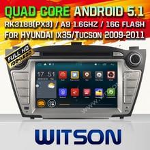 WITSON Android 5.1 CAR DVD GPS for HYUNDAI TUCSON/ix35 car radio player car audio gps dvd Qual-core 16GB Rom Free Shipping+ GIFT