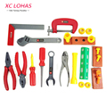 Kit de herramientas de reparación de simulación de plástico multifuncional toys baby pretend play conjunto de herramientas caja de herramientas multicolor niños educational toys