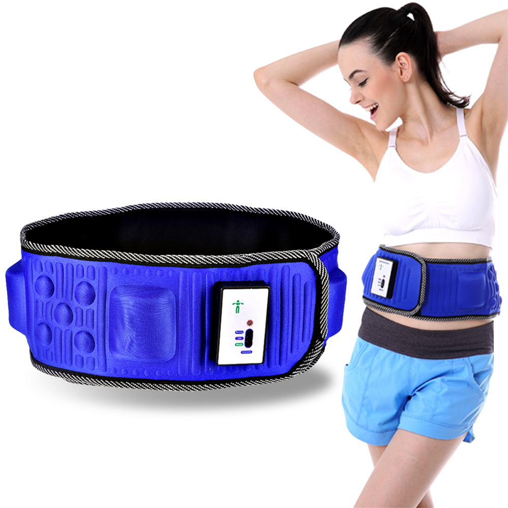 Massage Belt Slimming FitnessWireless Electric Fitness Belt Shaking Machine Slimming Device Vibration Fat Burning Artifact massage belt massage health care slimming fat burning massage fitness equipment machine body shaping shaking machine vibrati