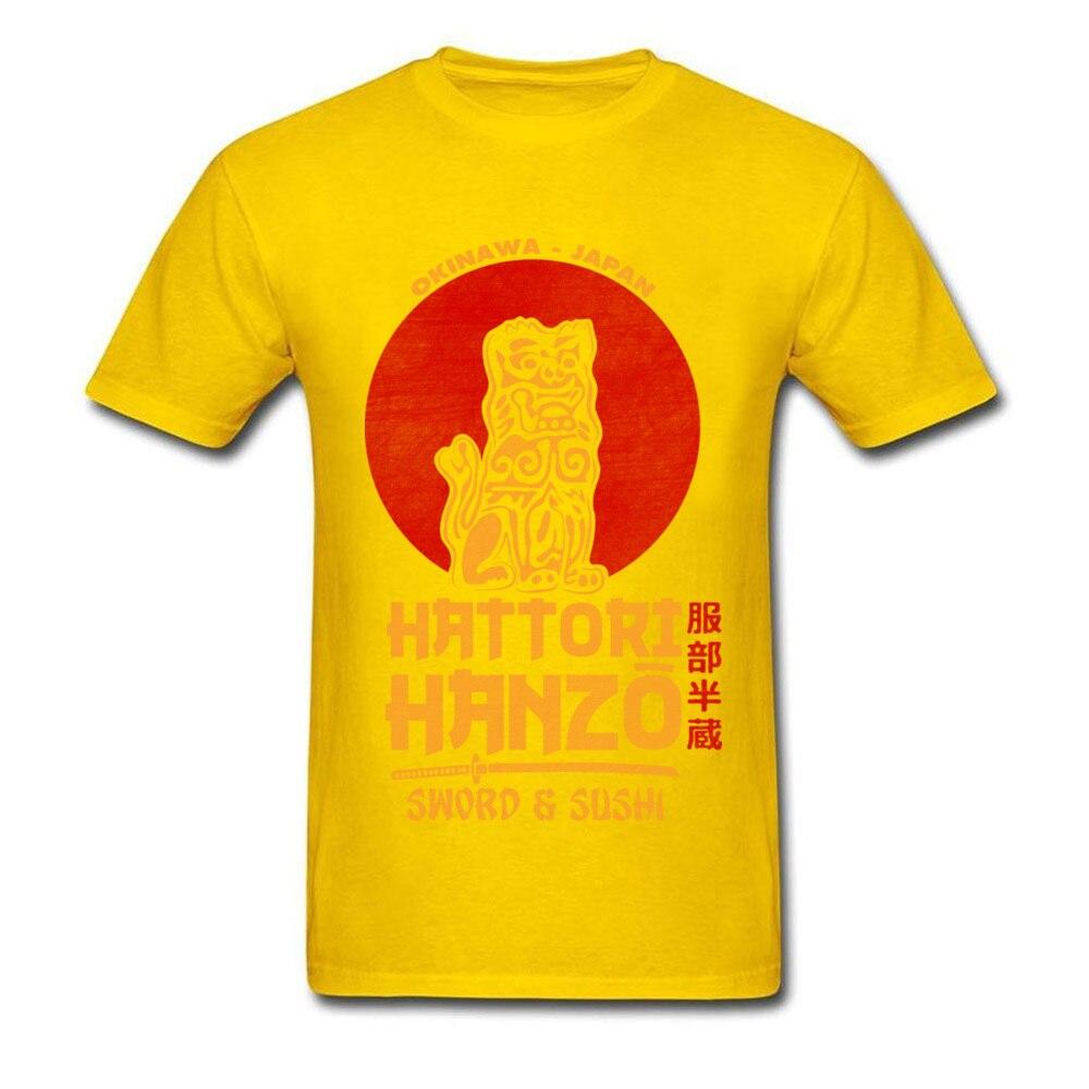 100% Cotton Fabric Men Short Sleeve Hattori Hanzo Top T-shirts Casual Tees Latest Design O Neck Sweatshirts Drop Shipping Hattori Hanzo yellow