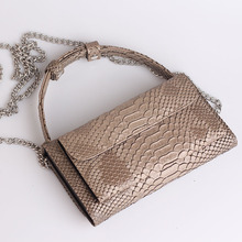 Crocodile Pattern Genuine Leather Chain HandBag (45 colors)