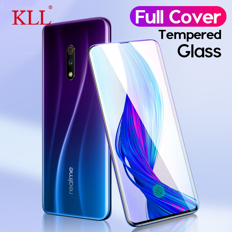 9H Full Cover Tempered Glass for OPPO Realme X Lite 3 Pro Protective Glass for OPPO Reno Z K3 A9x A9 A1k Screen Protector Film image