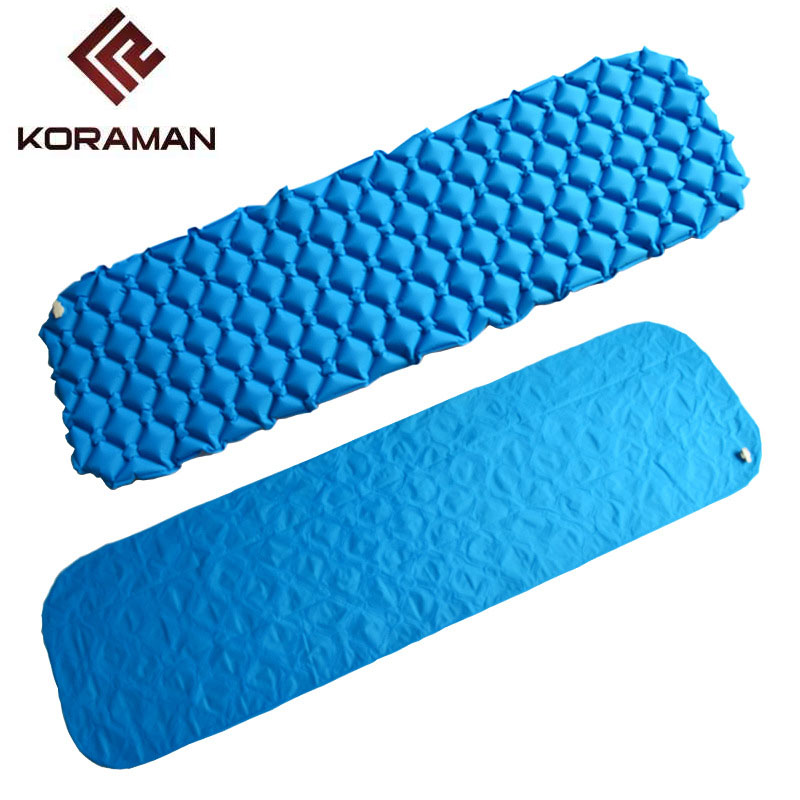 KORAMAN brand outdoor honeycomb nest egg slot portable outdoor camping inflatable single inflatable mat camping mat enjoyfun inflatable rodeo bulls mat gonfiabile inflatable mechanical bulls mat inflable bulls riding mat toys is1016