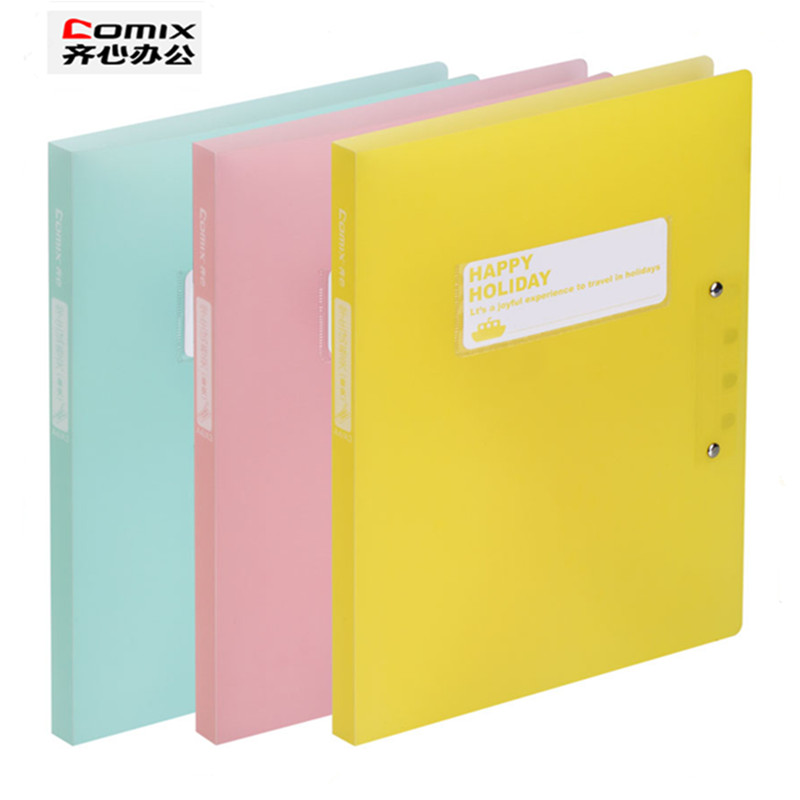 3pcs lot School stationery A4 folder Cute fashion for student Clip File 3 color information booklet school office stationery in File Folder from Office School Supplies