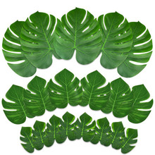 8pcs/lot Artificial Turtle Leaf 6, 8, 13 Big monstera deliciosa green leaves artificial leaf silk flower plants home decor