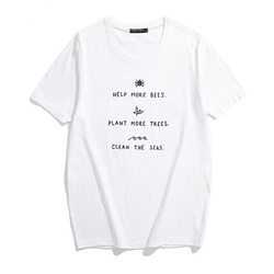 HELP MORE BEES Harajuku Tshirt Women Summer Causal Save The Bees PLANT MORE TREES T-shirt Wildflower Graphic Tees Woman Clothes 3
