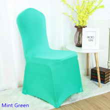 Colour Mint Green Lycra Chair Covers For Wedding Banquet Decoration Spandex Stretch Party Cover Wholesale