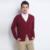 2015 outono inverno moda masculina Cashmere lã marca Cardigan V Neck manga comprida engrosse Cardigans trançado XXL camisola de malha