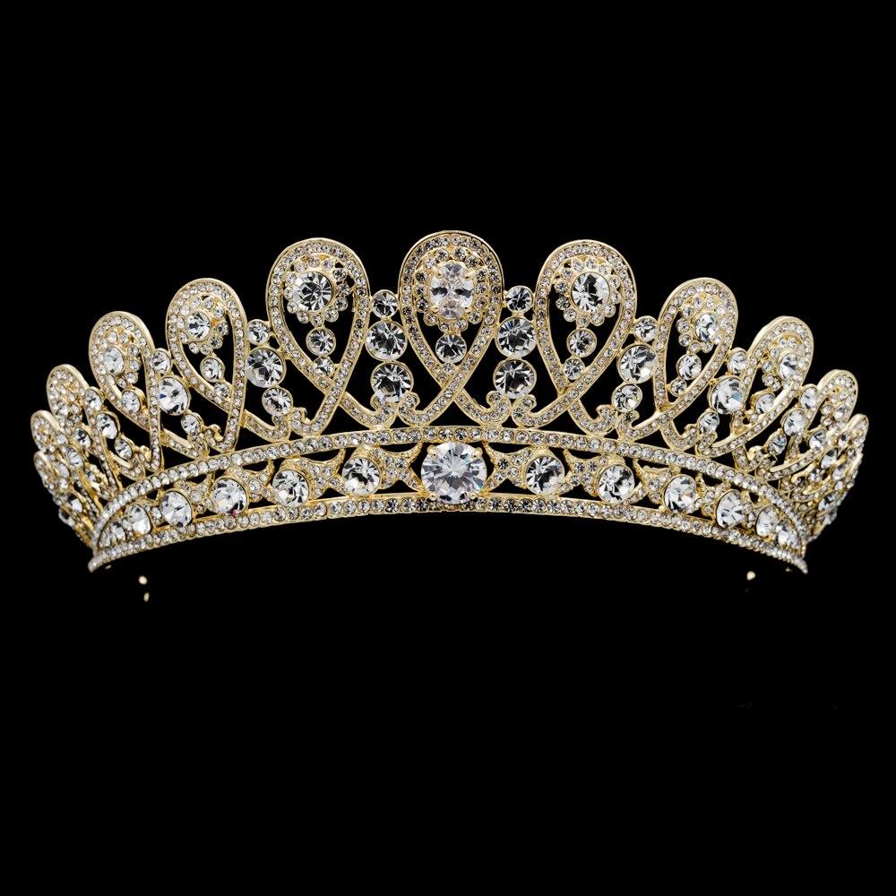 Women Tiara Royal Crown Bridal Wedding Hair Jewelry ...