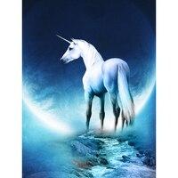Eenhoorn Licorne 5d Painting Rhinestones Nieuw Mosaic Full Square Unicorn Bordado De Diamantes Adesivos De Parede Unicornio hobi