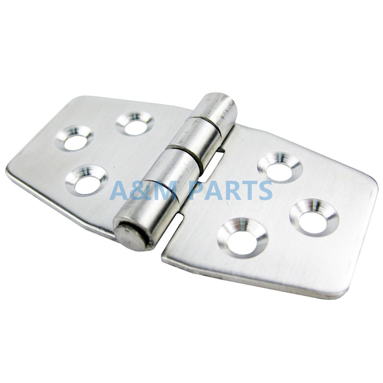 Stainless Steel Boat Door Hinge Stamping Cabinet Marine Hardware 76*40*2mm