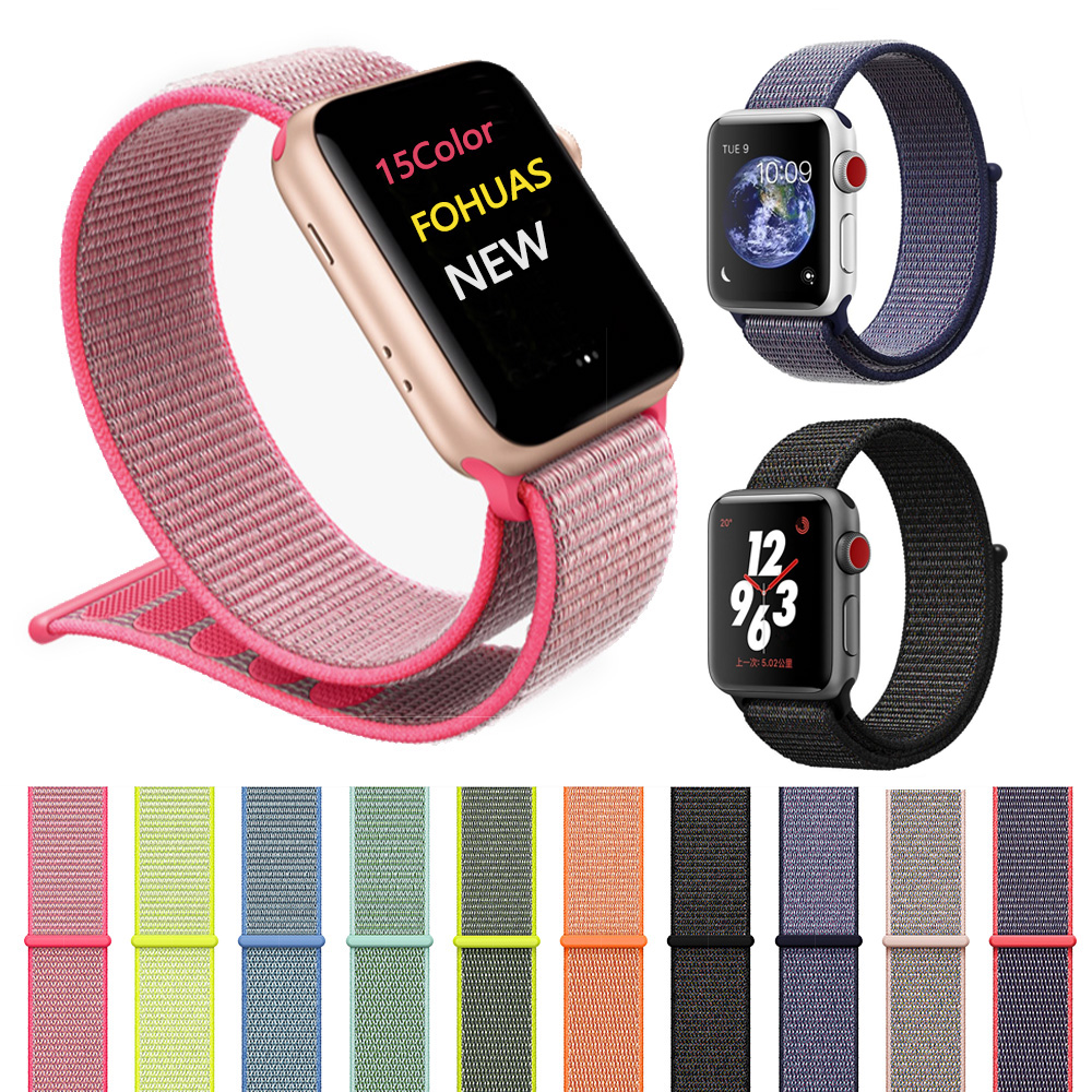Woven Nylon Watchband straps for iWatch Apple Watch sport loop bracelet & fabric band 38mm 42mm series 1 2 3 mu sen woven nylon band strap for apple watch band 42mm 38 mm sport fabric nylon bracelet watchband for iwatch 3 2 1 black