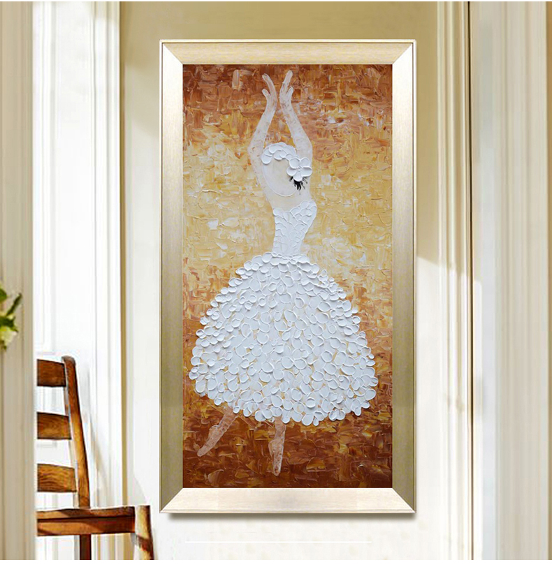 Ballet Dancer Style Handed Paingted Canvas Painting Hanging Wall