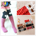 New fashion children baby girls stockings kids child bear cat cubic ear cotton hose knee length girls legging warmers