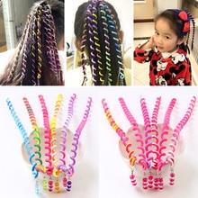 6pcs/lot Rainbow Color Cute Girl Curler Hair Braid