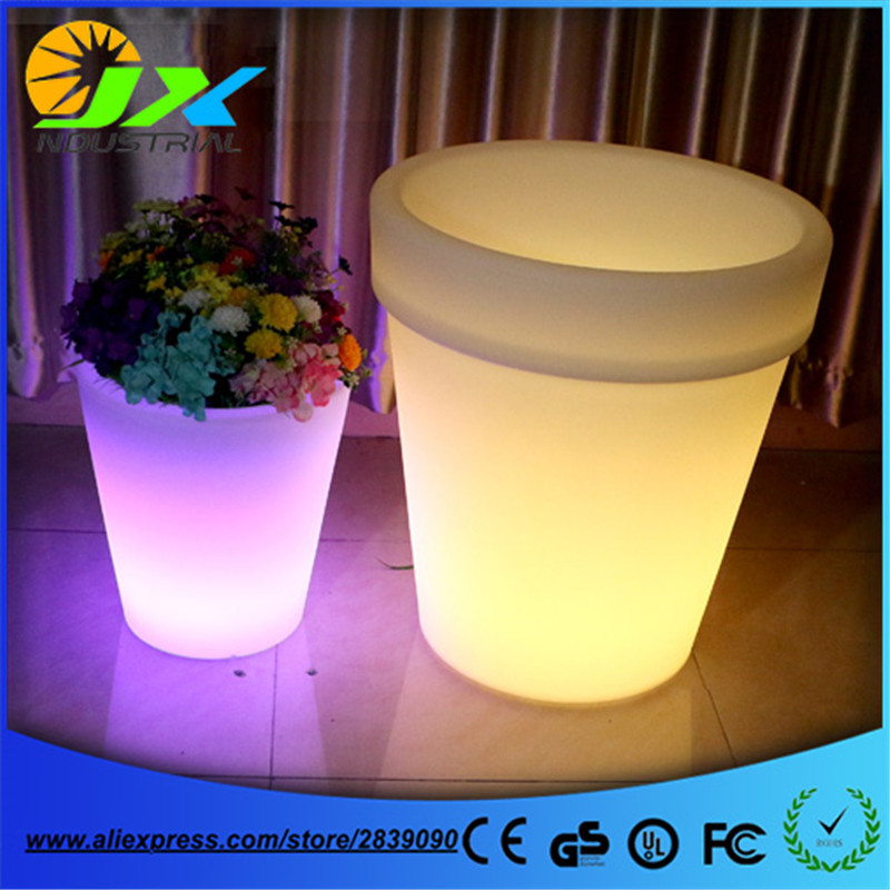 RGBW LED Light Flowerpot Colors Changeable Luminous flash flower pot tray Vase LIGHT indoor Outdoor Free Shipping 1pc