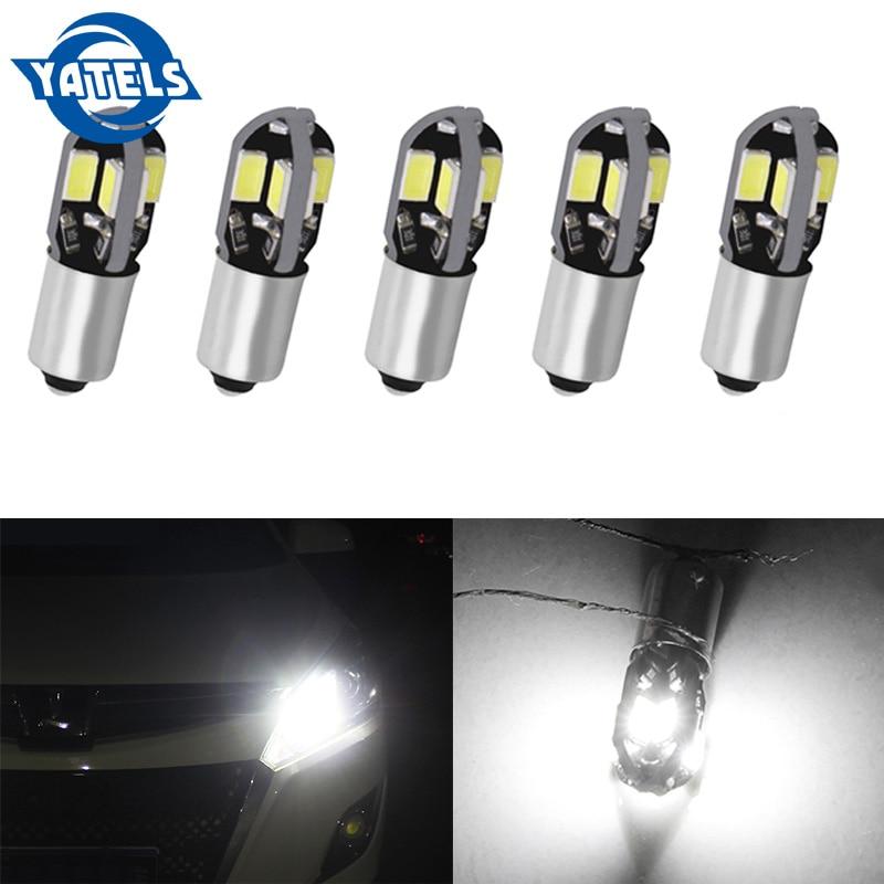 5Pcs Auto LED BA9S T4W BAX9S H6W BAY9S H21W 8-5630 SMD White 12V Car side wedge door clearance Marker Rear Reverse lamp bulb.5Pcs Auto LED BA9S T4W BAX9S H6W BAY9S H21W 8-5630 SMD White 12V Car side wedge door clearance Marker Rear Reverse lamp bulb.