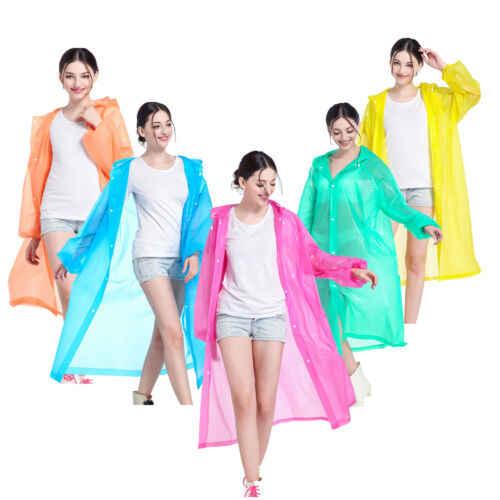 Mulheres jaqueta à prova dclear água clara eva capa de chuva casaco de chuva com capuz poncho capa de chuva caminhadas ciclismo capa de chuva ao ar livre