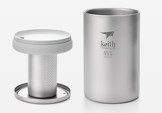 Keith  Titanium Tea Maker Tea Set Cup Tea ware 210G free shipping купить