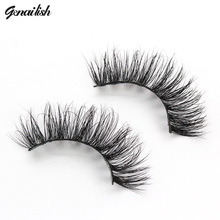 Genailish Mink Eyelashes 3D Mink Lashes Thick False Eyelashes 19 Styles Full Strip Eyelash Fake Eye Lashes cilios  A14