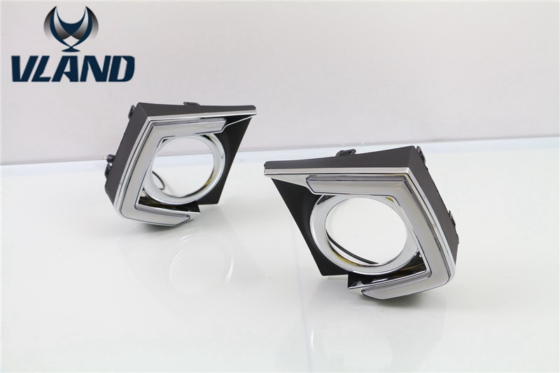 Free shipping for car fog lamp For Mitsubishi Triton L200 led 2015 2016 Daytime Running Lights plug and play design high quality chrome tail light cover for mitsubishi l200 triton free shipping