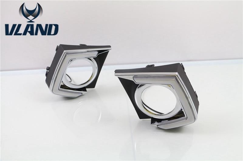 Vland manufacturer for car fog lamp for Triton L200 led 2015 2016 Daytime Running Lights plug and play design экран для ванны triton эмма 170
