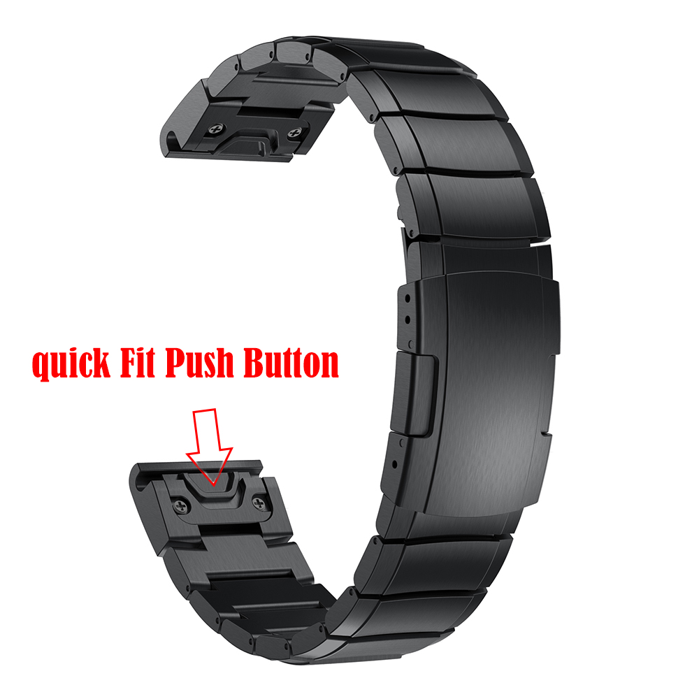 Image 4 - 22MM Stainless Steel Band for Garmin Fenix 5/6/5Plus/Forerunner 935 945 Strap Smart Bracelet Quick Fit Metal Watchband Correa-in Smart Accessories from Consumer Electronics