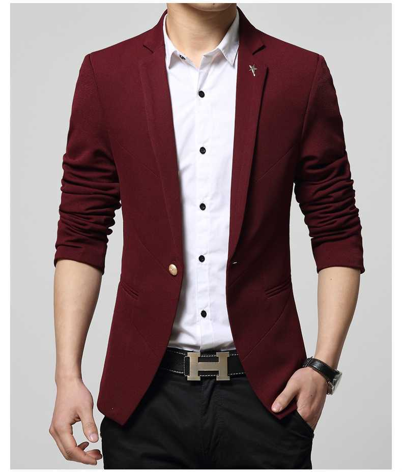 Aliexpress.com : Buy Blazer Men Fashion Plus Size Business Slim ...