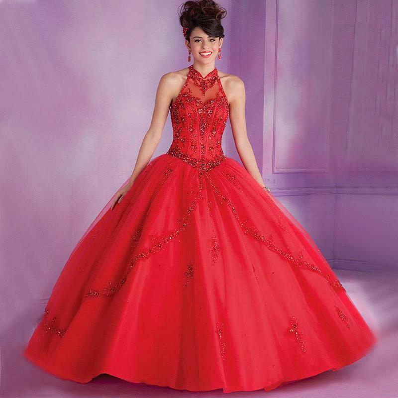 Popular Royal Red Quinceanera Dresses-Buy Cheap Royal Red ...