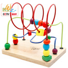 Baby Toy Move Around the Pearl Cartoon Wooden Toy Bead Maze Baby Toys Classic Toy