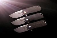 Brand CH CH3005 Mini Pocket Folding Knife AUS 8 Blade TC4 Titanium CF Handle Utility EDC