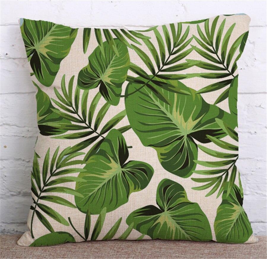 ZXZXOON Tropik Bitki Yaşıl yarpaqlardan Monstera Yastığı - Ev tekstil - Fotoqrafiya 2