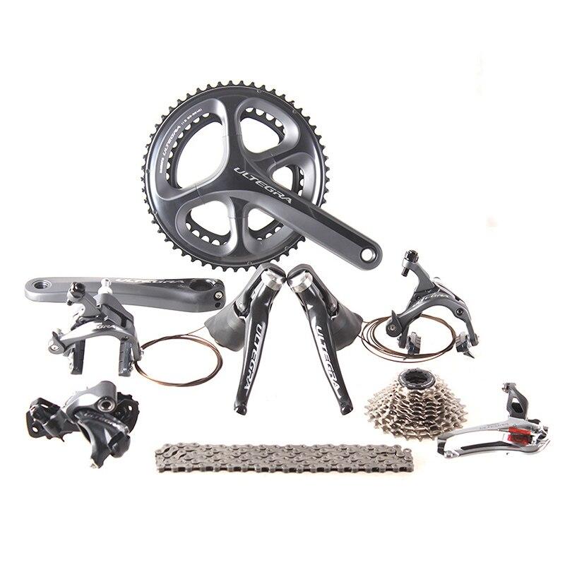 Shimano ULTEGRA 6800 2x11 22 S Velocità 53x39 T 50x34 T 170mm Strada Bicycle Groupset Deragliatore Kit
