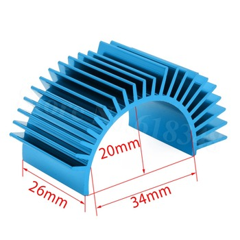 Universal Aluminum Motor Heatsink For 540 550 3650 Size Fit 1/10 Tamiya HSP Redcat Exceed RC Model Car Replacement Spare Parts image
