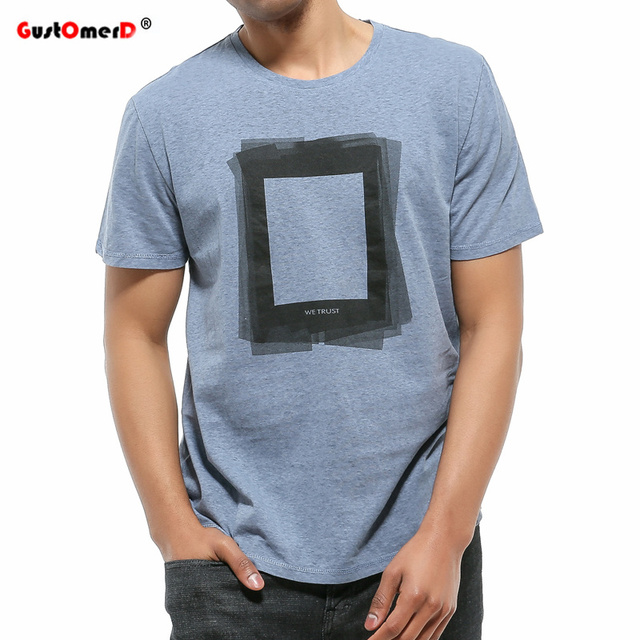 0a2d5606a8b8 GustOmerD 2018 New Fashion Summer t Shirt men Top Quality Cotton tops tees  Solid Short Sleeve O-neck Print Casual men tshirt