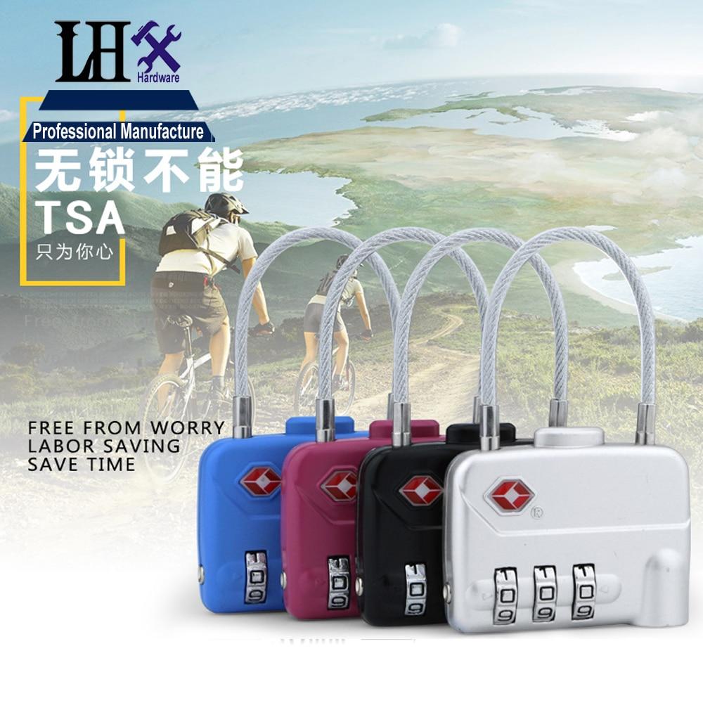 Rarelock TSA 3 dígitos código de bloqueo de combinación de cremallera  equipaje caja maleta bolsa de viaje con wirerope Candados 5aad9eeab3
