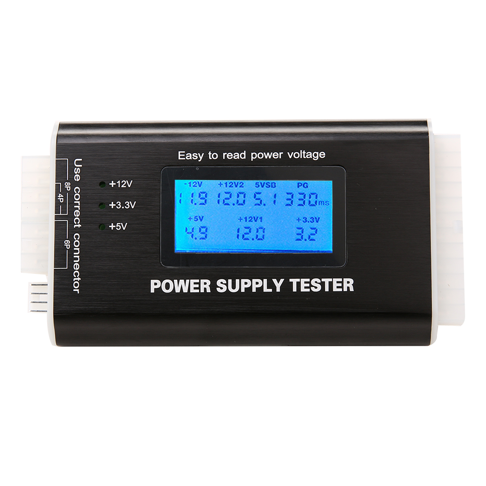 High Quality Digital LCD Computer PC Power Supply Tester Checker 20/24 pin SATA HDD ATX BTX Meter стоимость
