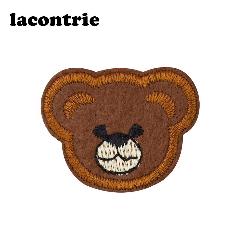 Teddy bear patches for clothing iron on patches diy fashion embroidery patch applique parches ropa stickers for clothes 5pcs