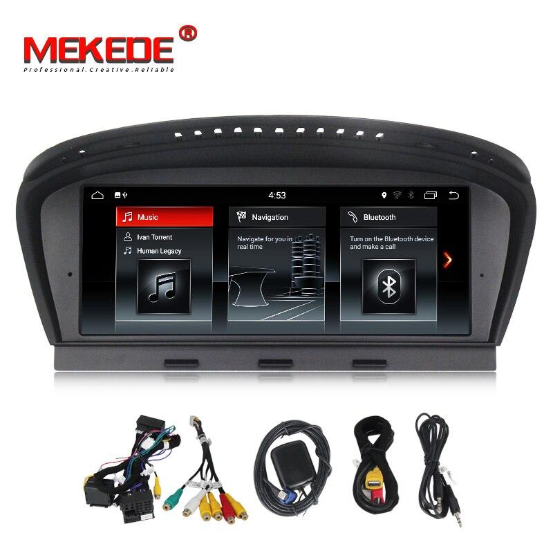 8.8 Quad Core Android 7.1 DVD De Voiture Pour BMW 5 série E60 E61 E63 E64 3 Série E90 E91 avec GPS Audio Radio iDrive volant