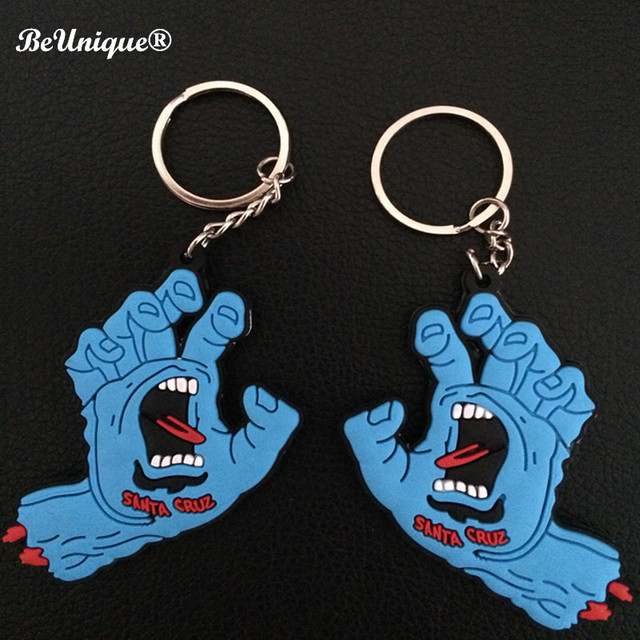 Anime PVC de Santa Cruz Screaming Hand KeychainThe chave pingente anel Pequeno pendurar tags Bolsa Decorações Brindes Wholesale10pcs/lot
