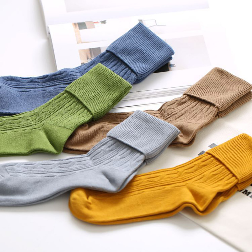 Comfortable Womens Girl Cotton Flanging Hosiery Socks Free size For Spring Autumn Winter High quality