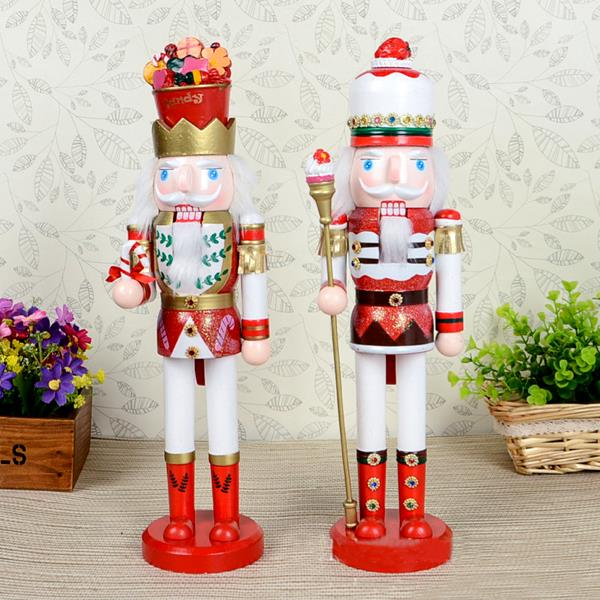Free shipping Movable doll puppets 38cm Candy kingdom King Nutcracker puppet Christmas gift, pure hand-painted wood toy 2pcs/lot ht025 free shipping movable doll puppets 13cm hardcover box painted walnut wooden nutcracker children christmas toy 2pcs lot