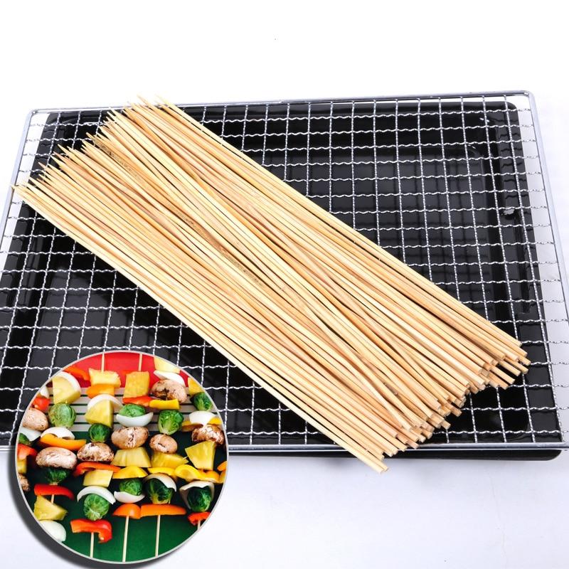 Bbq Round Bamboo Sticks And Skewers Bamboo Bbq - Buy Round