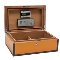 Cohiba Solid Wood High Glossy Cigar Moisture Box Humidity Adjustable Cigar Desktop Cabinet Lacquer Finish Sigaro Storage Humidor